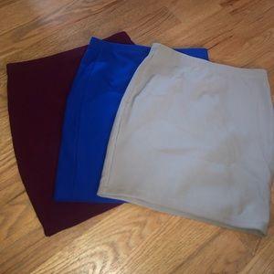 Bundle Deal: 3 Bodycon Mini Skirts